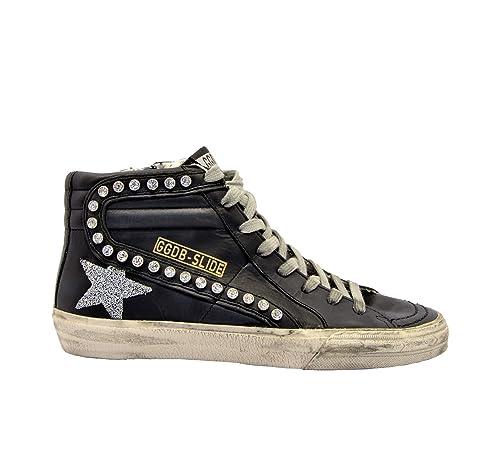 GOLDEN GOOSE G34WS595A31 Mujer Negro Cuero Zapatillas Altas: Amazon.es: Zapatos y complementos