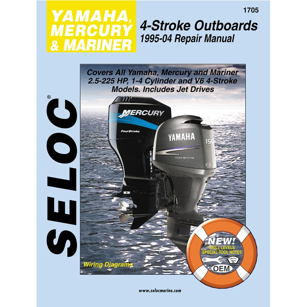 Amazon.com : Seloc Service Manual - Yamaha/Mercury/Mariner - 4 Stroke -  1995-04 : Outboard Motors : Sports & Outdoors