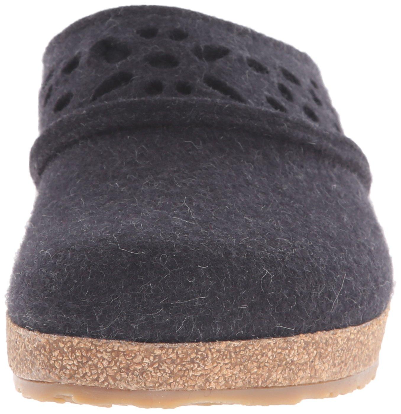 Haflinger Women's Lacey Clog B00U1TMIVE 38 M EU / 7 B(M) US|Charcoal