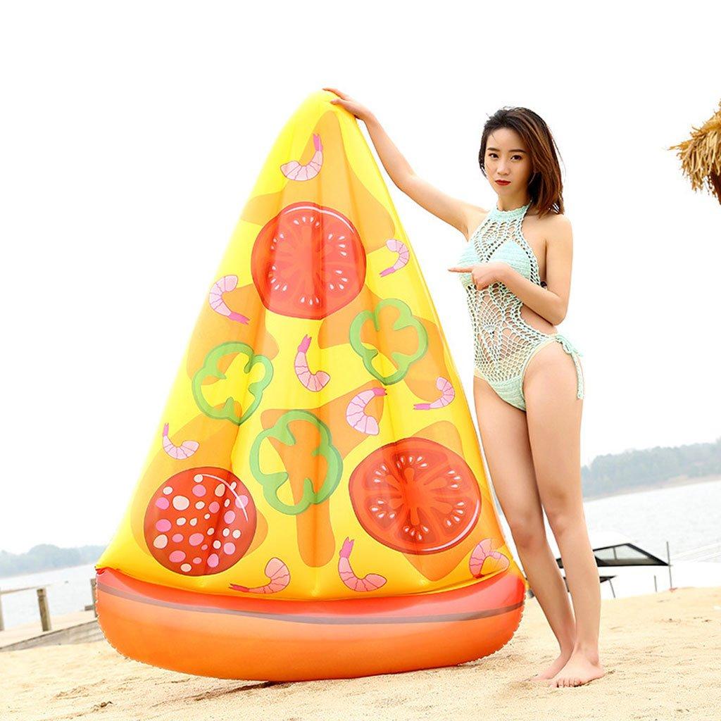 Longwei Fila inflable flotante Personalidad de la creatividad Pizza para adultos Agua Cama flotante Hinchable anillo de natación adulto 80 KG