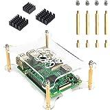 Jun_Electronic Acrylic Case with Heatsinks for Raspberry Pi 3 Model B+ (clear)