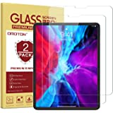 OMOTON [2 Pack] Screen Protector Compatible with iPad Pro 12.9 4th 3th Generation (2020 and 2018 Release) [Compatible with Fa