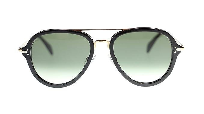 365ce0b95915f Celine Unisex Sunglasses CL41374 ANW Black Gold Aviator 54mm Authentic