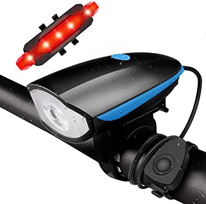USB Rechargeable Bike Light MTB Bicycle Front Back Rear Taillight Cycling Safety