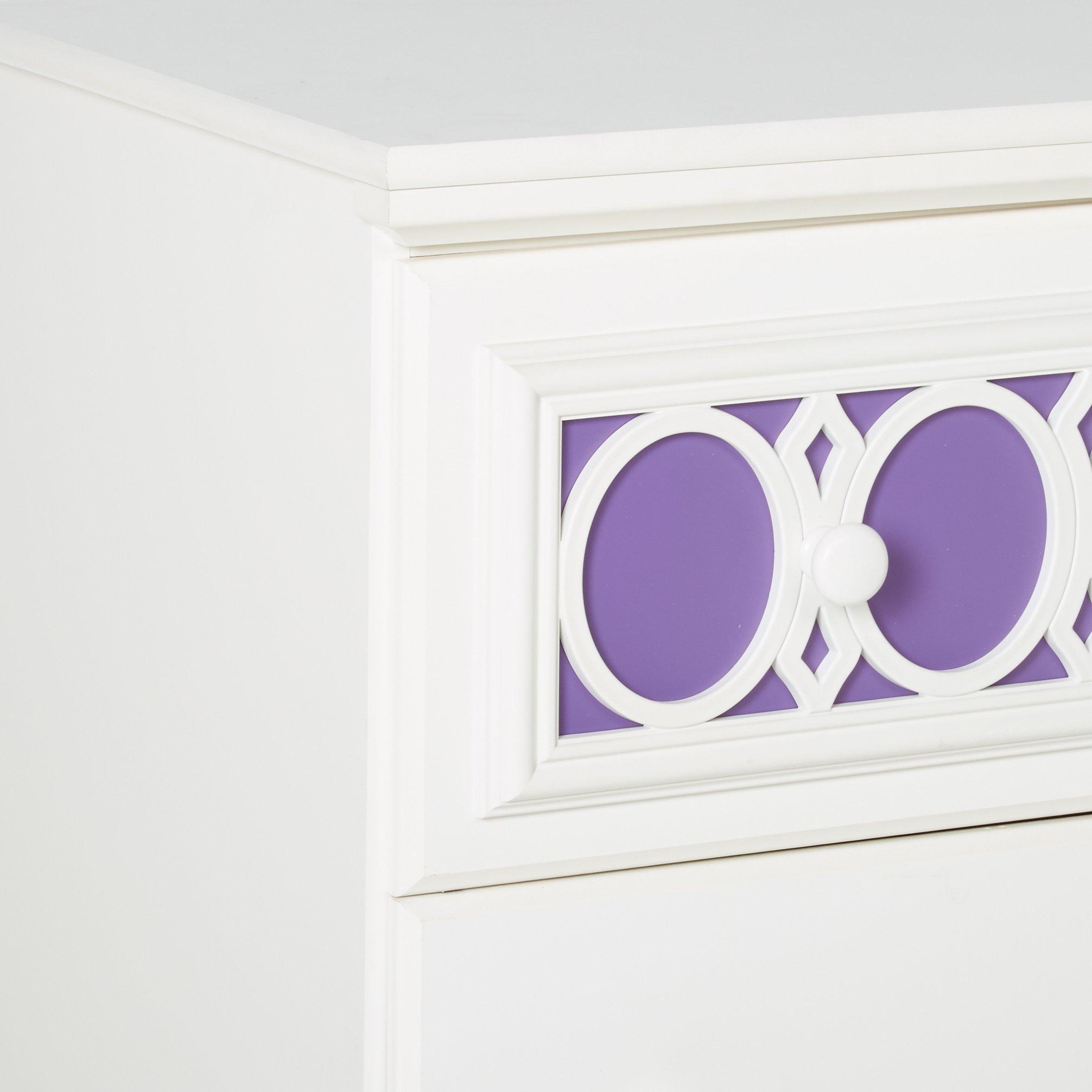 Ashley Furniture Signature Design - Zayley Chest of Drawers - 5 Drawers - Interchangable Panels - Contemporary - White by Signature Design by Ashley (Image #6)