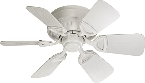 Quorum International 151306-8 Medallion 6-Blade Flush Mount Patio Ceiling Fan