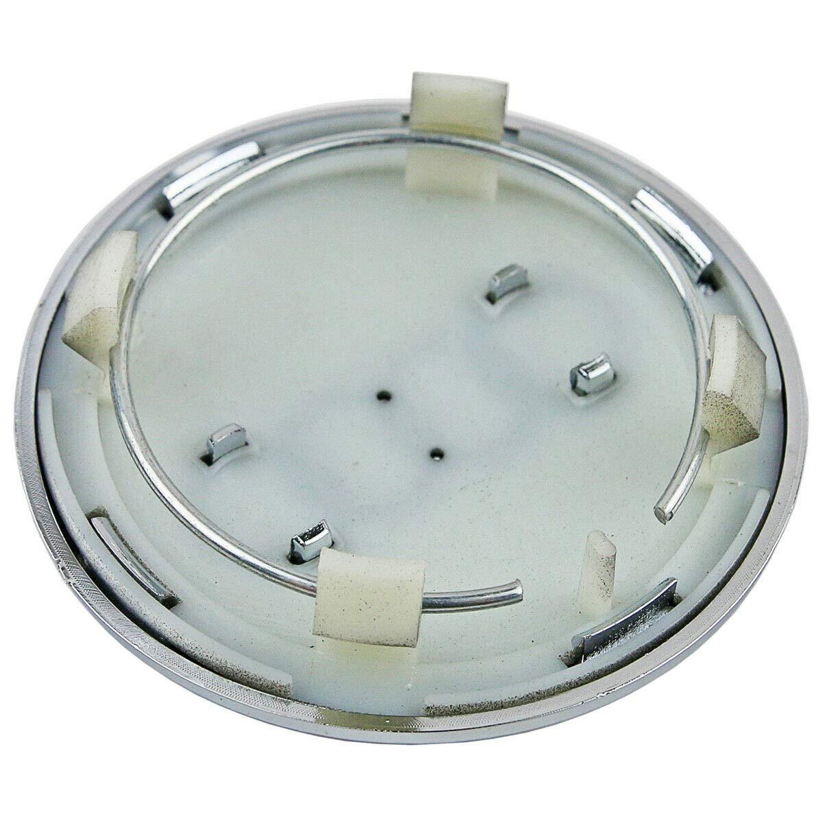 Marfed Coprimozzo da 61mm Grigio Scuro e Cromato per Cerchioni Tappi Pneumatico Ruota