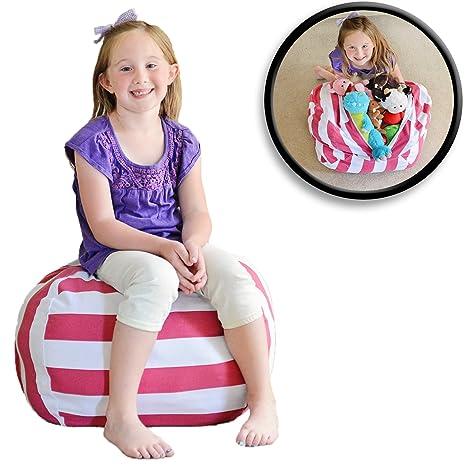Creative QT Stuff U0027n Sit   Stuffed Animal Storage Bean Bag Chair For Kids