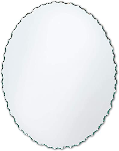 Better Bevel 24 x 36 Frameless Oval Mirror Chiseled Edge