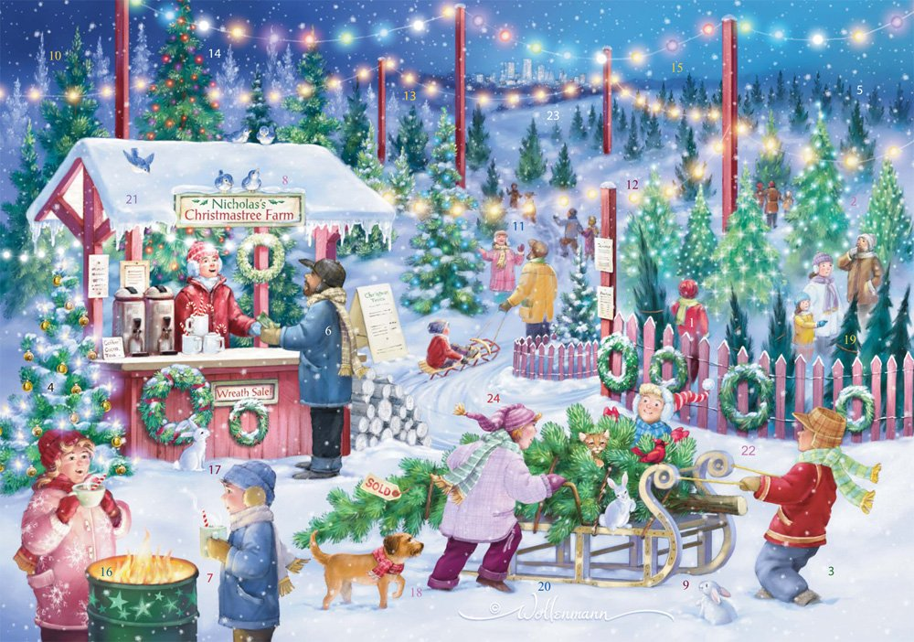 Christmas Tree Farm Advent Calendar (Countdown to Christmas) Vermont Christmas Company
