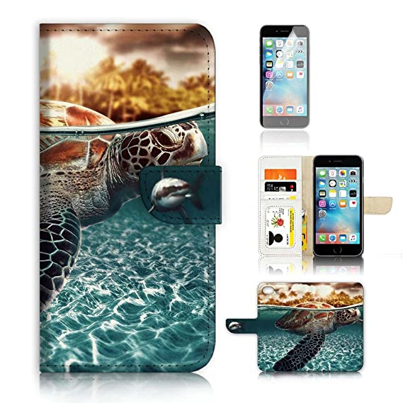 new styles f9547 e2d53 Amazon.com: (For iPhone 8/iphone 7) Wallet Case Cover & Screen ...