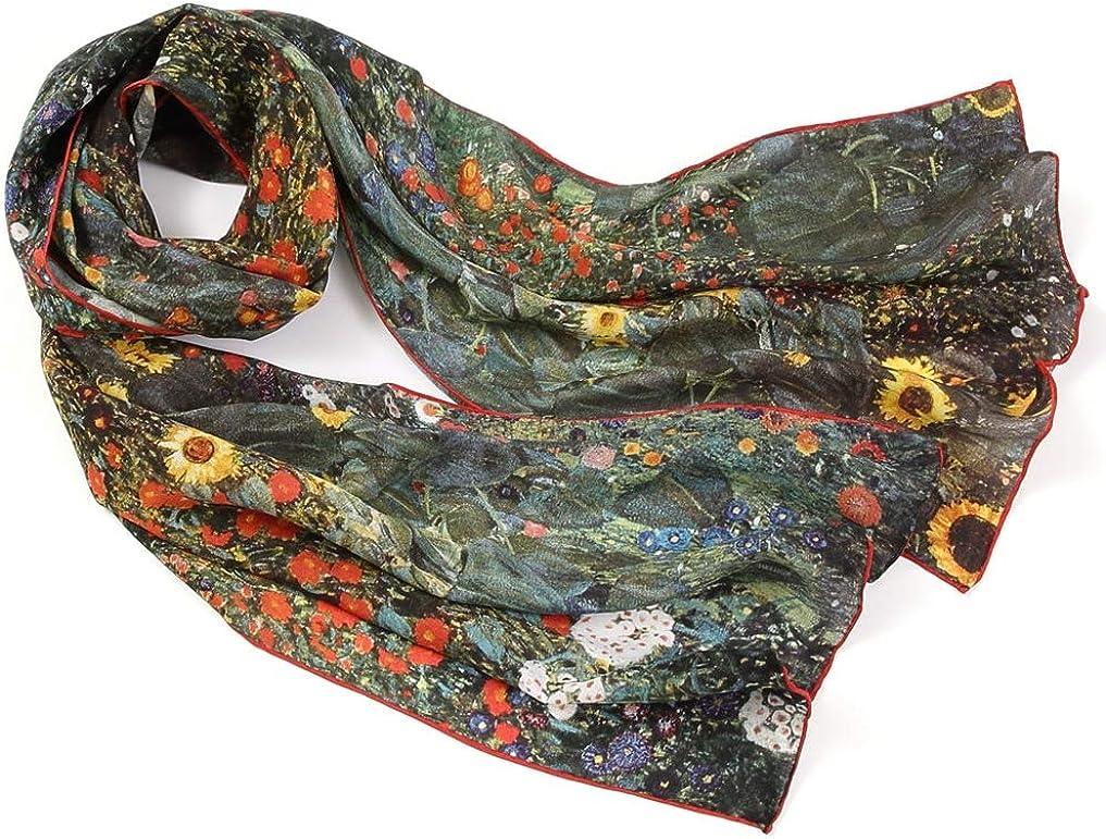 20+ Bunte Luxuri/öse Schals STORY OF SHANGHAI Seidenschal Damen 100/% Seide 53 * 170 cm als Stola Seidentuch Halstuch Pashmina Warm /& Weich