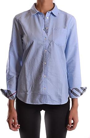 Burberry Mujer MCBI056176O Azul Claro Algodon Camisa: Amazon.es: Ropa y accesorios