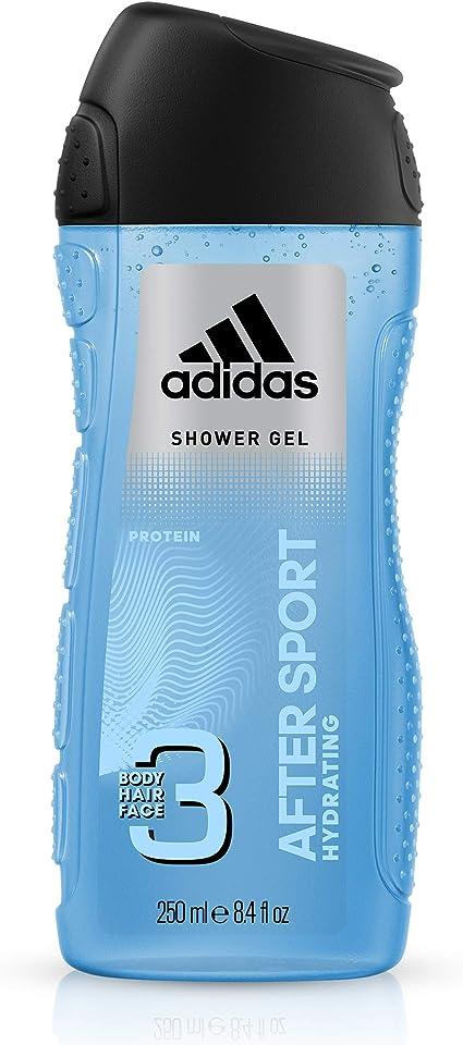 Delgado pómulo clima  Adidas After Sport 3-in-1 Shower Gel for Men 250 ml Set of 2: Amazon.co.uk:  Beauty