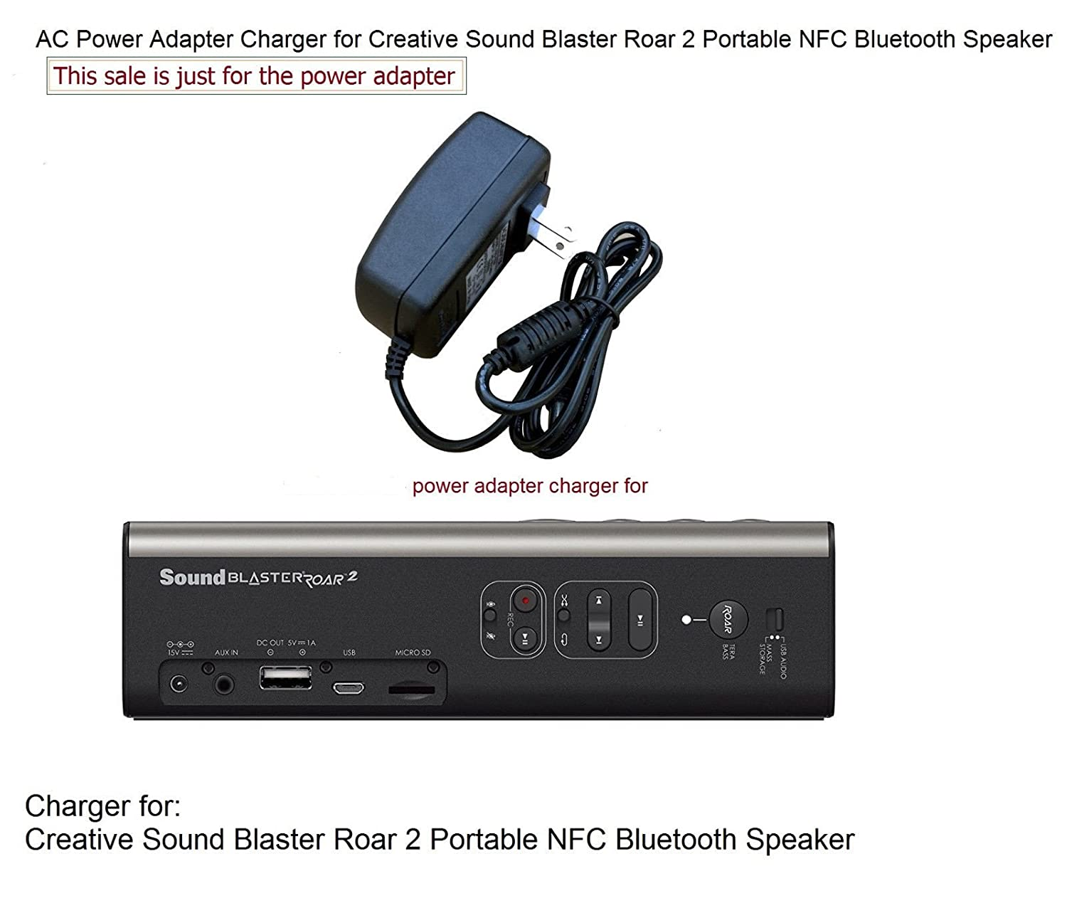Amazon.com: Adaptador cargador para Creative Sound Blaster ...