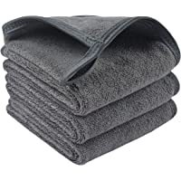 Sinland Microfiber Makeup Remover Facial Cloths Chemical Free Face Cleaning Towel grey 3 Pack