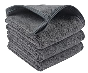 Sunland Microfiber Makeup Remover Cloths Reusable Facial Cleaning Towel Ultra Soft Washcloths 8inchx16inch Grey 3 Pack