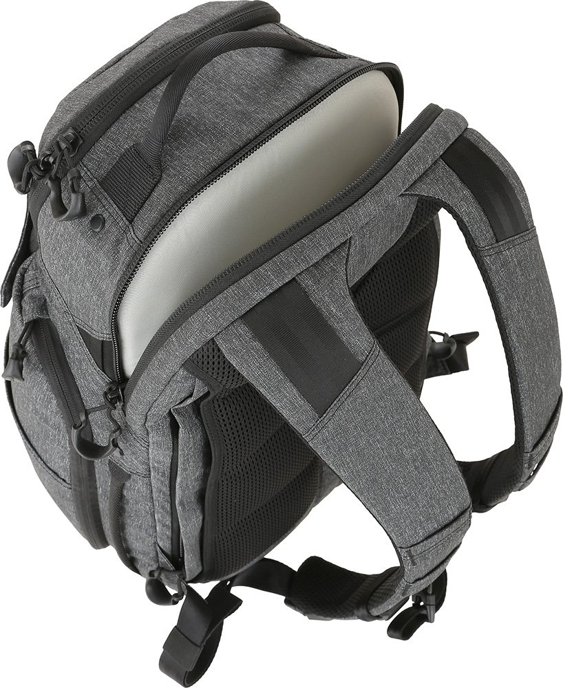 Maxpedition Gear Entity 23 CCW-Enabled Laptop Backpack 23L for Covert Concealed Carry, Charcoal by Maxpedition (Image #6)