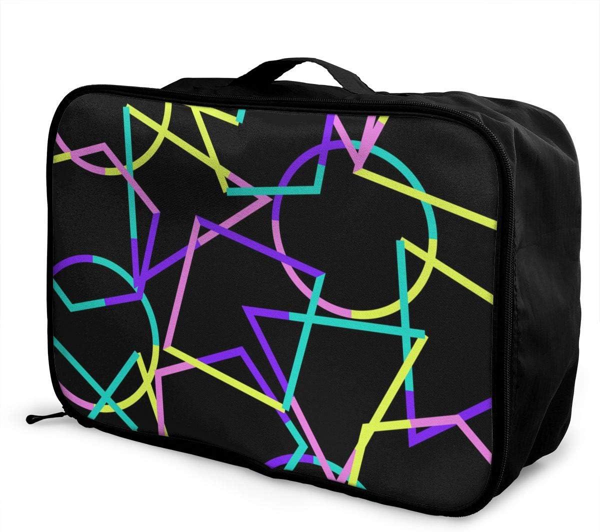 ART Travel Carry-on Luggage Weekender Bag Overnight Tote Flight Duffel In Trolley Handle