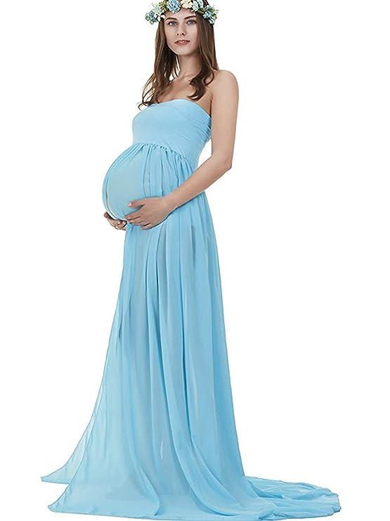 Bettomo - Vestido - Corte Imperio - para Mujer Azul Azul Talla única: Amazon.es: Ropa y accesorios