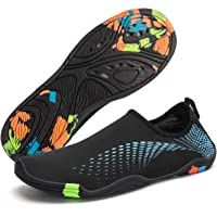 Guarm Mens Water Sports Shoes Quick-Dry Lightweight Barefoot Wide Feet Drainage Sole for Swim Diving Surf Aqua Pool Beach Jogging Trip