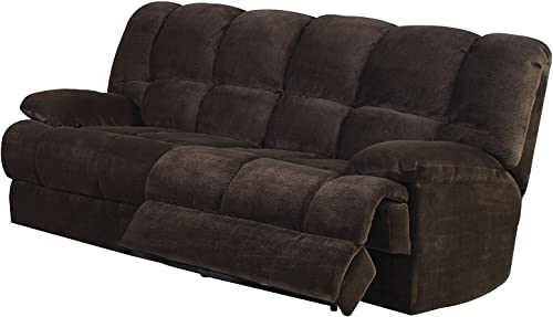 Benzara Smart Collection Living Room Sofa, Chocolate Brown