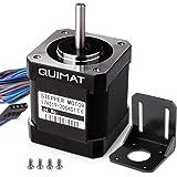 Quimat Nema 17 Moteur pour Imprimante 3D Bipolaire 2A 0.59Nm (84oz.in) Corps de 46mm 4-Pin /câble de 1m et Connecteur pour 3D Printer/CNC