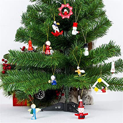 Wooden Christmas Crafts.Amazon Com Quaanti New Year 2019 Christmas Decorations For Home 12