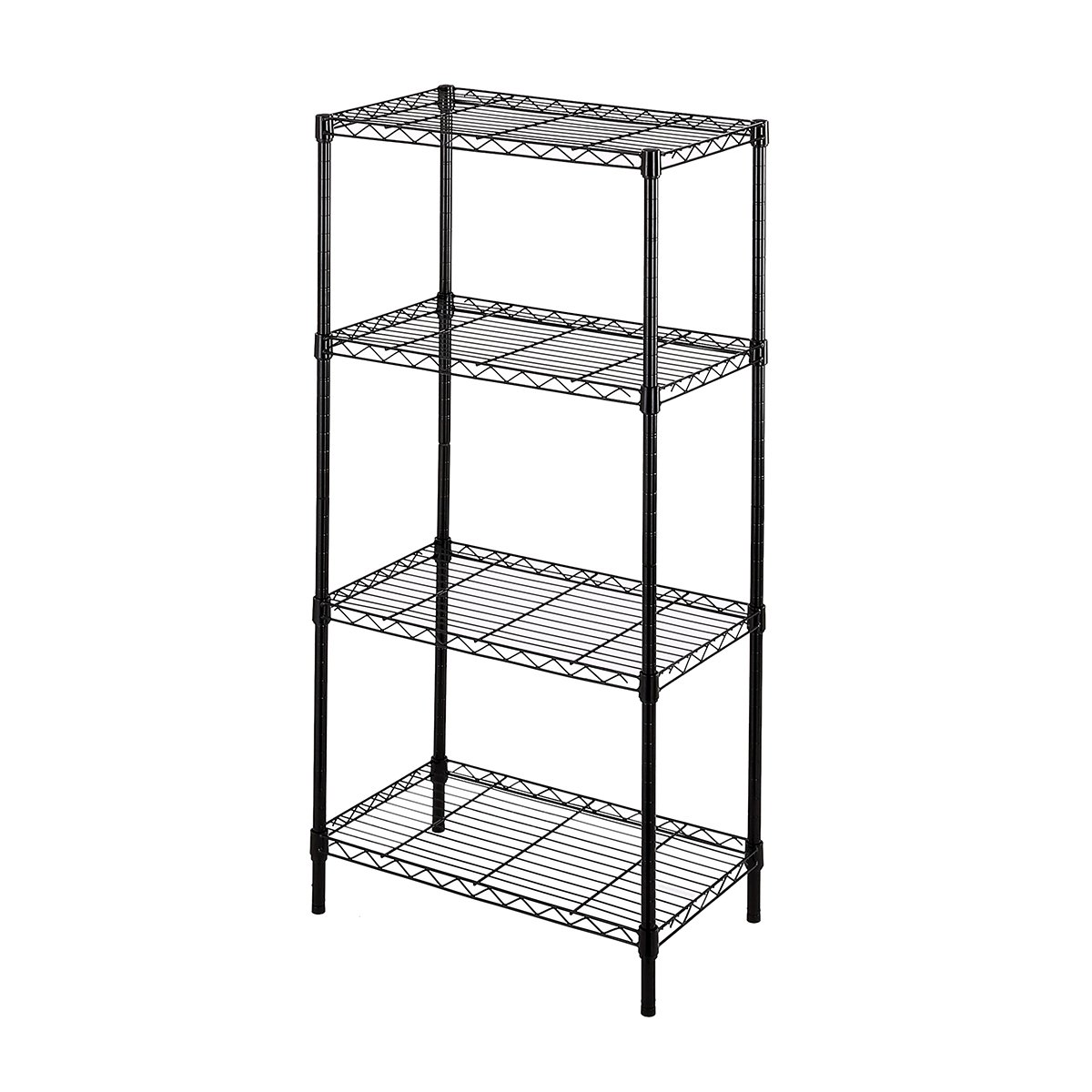 BuyHive 4-Tier Wire Shelving Storage Organizer Utility Garage Office Display Shelf Rack Leveling Feet