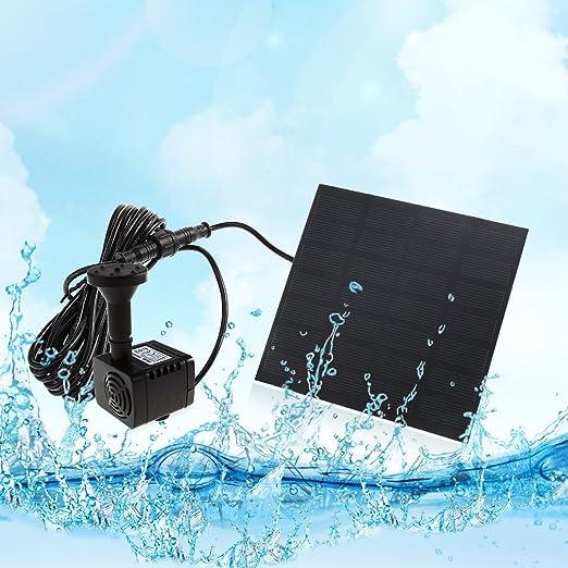 ueetek Bomba de agua solar de 7 V 1.2 W 180L/H Bomba Agua immersabile del Jardín de la piscina de la fuente de acuario: Amazon.es: Productos para mascotas