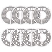 ilauke 8 Pack Baby Closet Dividers Round Nursery Clothing Size Dividers for Boy and Girl from Newborn to Toddlers