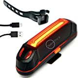 Ultra Bright LED Bike Tail Light, USB Rechargeable, 6 Lighting Modes and Up to 15 Hours Runtime - Easy to Install Red Rear Bike Light, Perfect for Riding and Travelling Safe