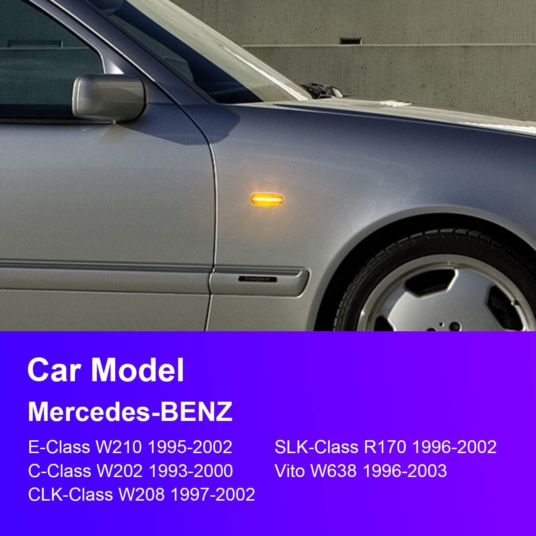 Für Mercedes Benz C W202 S202 Seiten Blinker Schwarz Kotflügelblinker Kotflügel