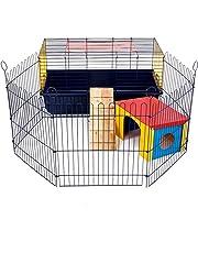 Little Friends Poco amigos interior 80 de conejo jaula con Run: ideal para conejos y