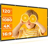 VANKYO StayTrue Projector Screen, 120 Inch Projection Screen 4K HD, 16:9, Foldable Wrinkle-Free Movies Screen(1.1 GAIN…