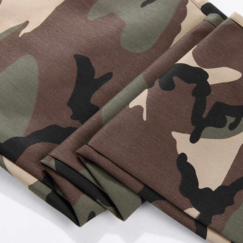 Mens Casual Jogger Camo Sportwear Baggy Harem Pants Slacks Trousers Sweatpants