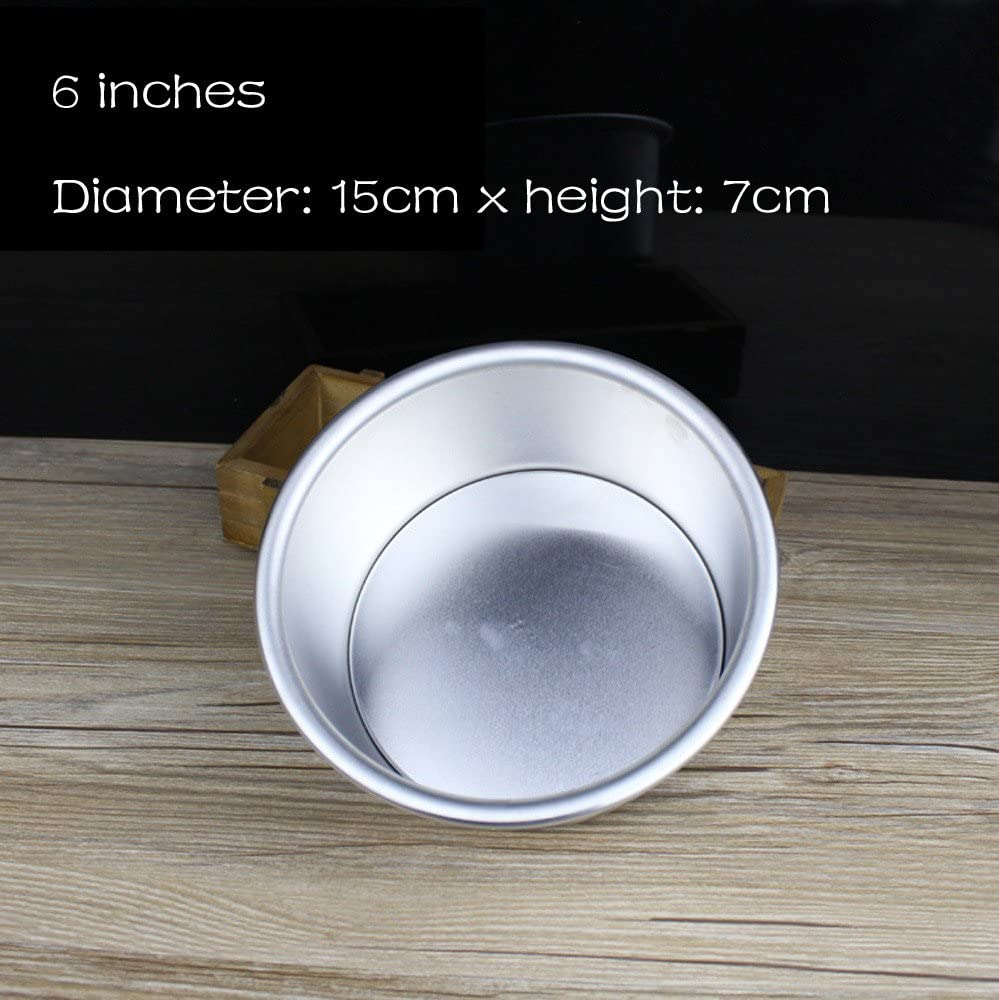Silver, 8 inch Shotbow Durable 4//6//7//8 Inch Aluminum Alloy Non-Stick Round Cake Baking Mould Pan Bakeware Tool Non-Toxic Mould for Household and Kitchen