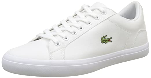 Mens Lerond BL 2 Canvas Lace up Trainer White Lacoste kwJKKwj5Re
