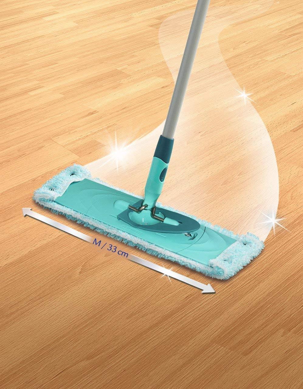 panno di ricambio assorbente super morbido in microfibra 2 X Leifheit Clean Twist M panno di ricambio ideale per pavimenti lisci 33cm 1 pezzi di marca Siluk panno in microfibra