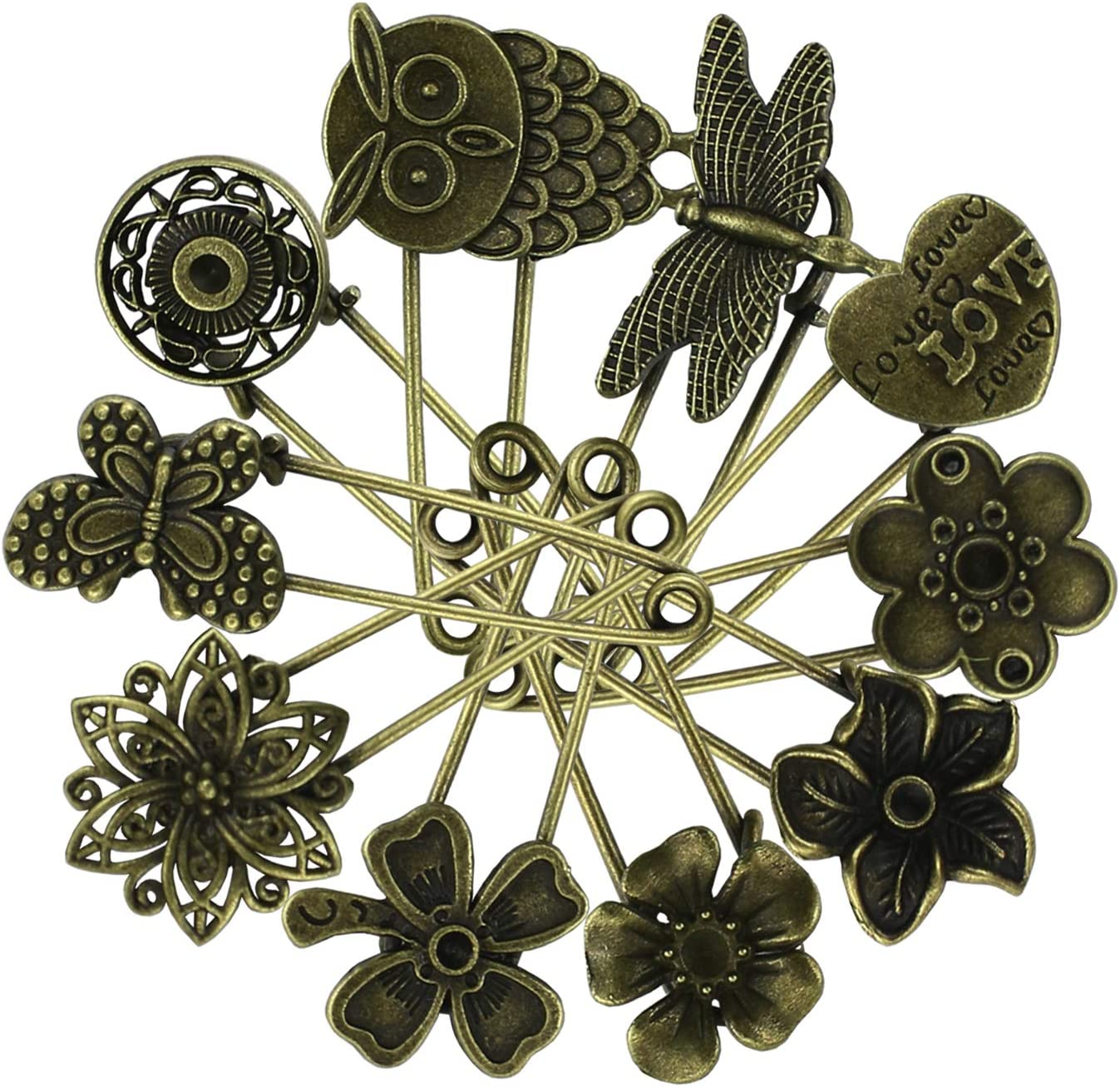 BROOCH SAFTY PINS HIJAB AND SCARF PINS PACK OF 12 TO 24 EACH PACK HAVE 6 PCS