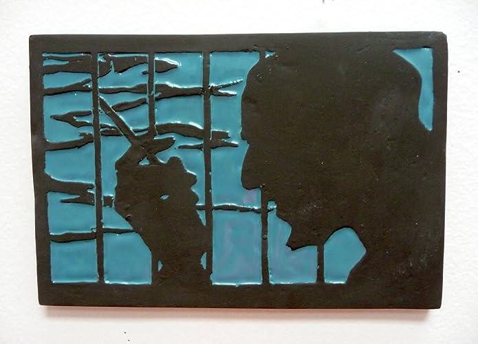 Amazoncom Ceramic Tile Of Jet Black From Cowboy Bebop 4 X 6 Or