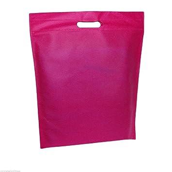 100 x color rosa bolsas de yute - Bolsa de la compra mediana ...