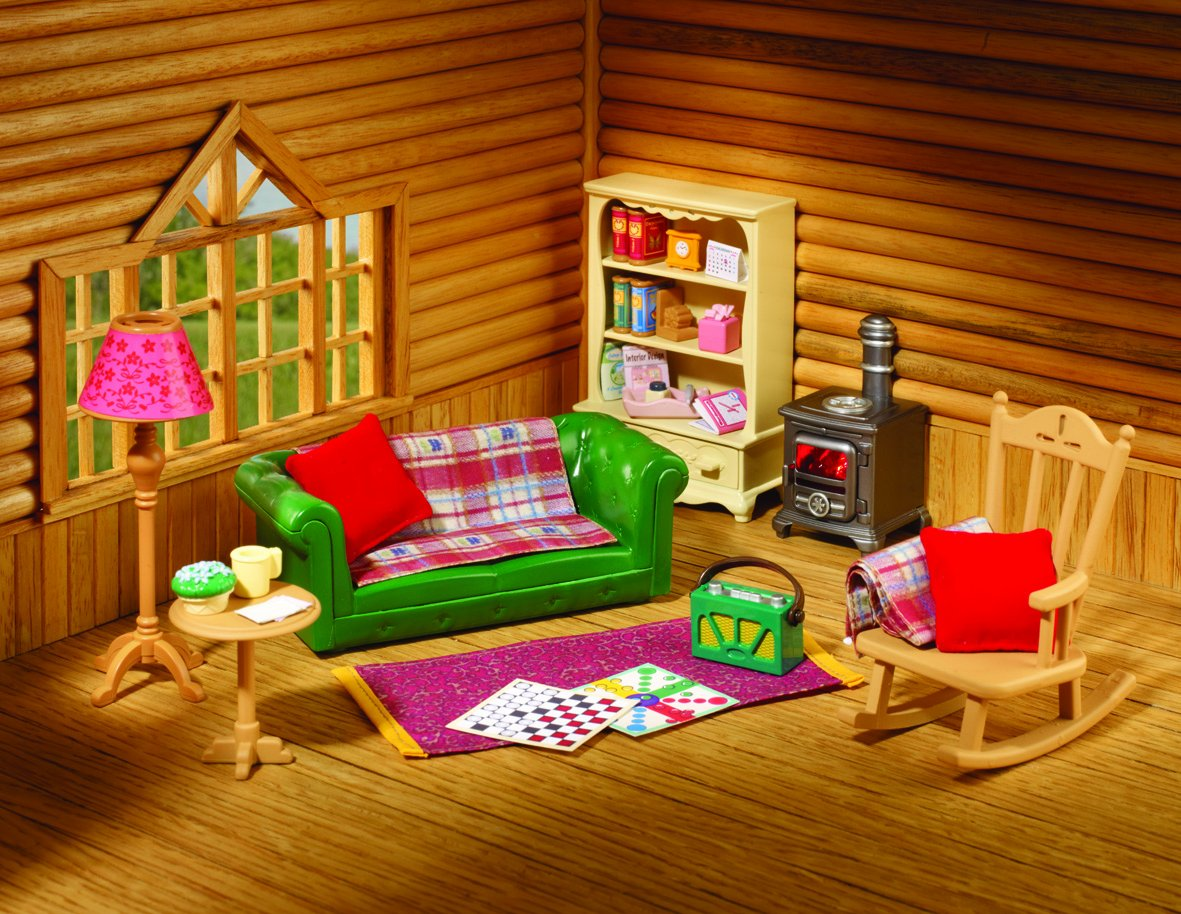 Cabin living room furniture sets - Sylvanian Families Cosy Living Room Furniture Amazon Co Uk Toys Games