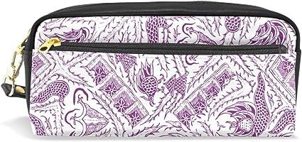 FANTAZIO - Estuche para lápices, diseño de animal malvado, color violeta: Amazon.es: Oficina y papelería