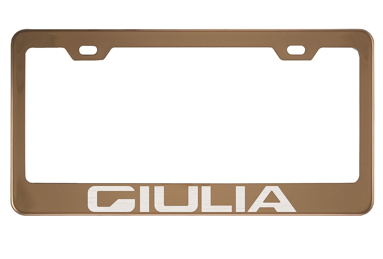2 x Alfa Romeo Euro License Number Plate Frame Tag Holder