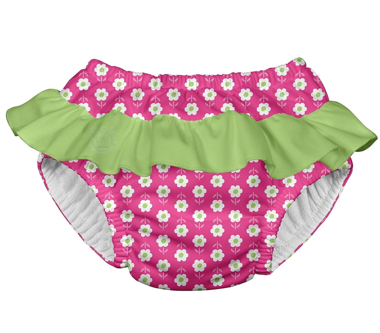 i play. 711053-204-44 - Pañal para nadar, con volados, 12-18 meses, color rosa