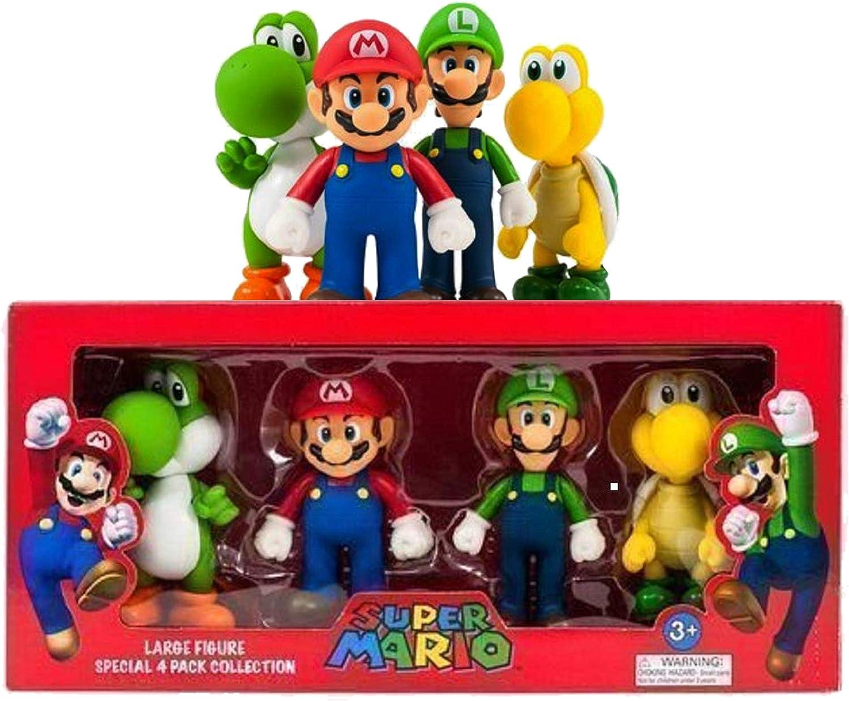 Mario Súper GRANDE 4 Figura Colección Paquete: Amazon.es: Juguetes y juegos