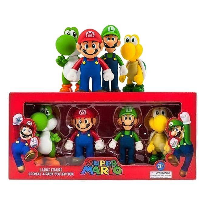 Súper Mario GRANDE 4 Figura Colección Paquete
