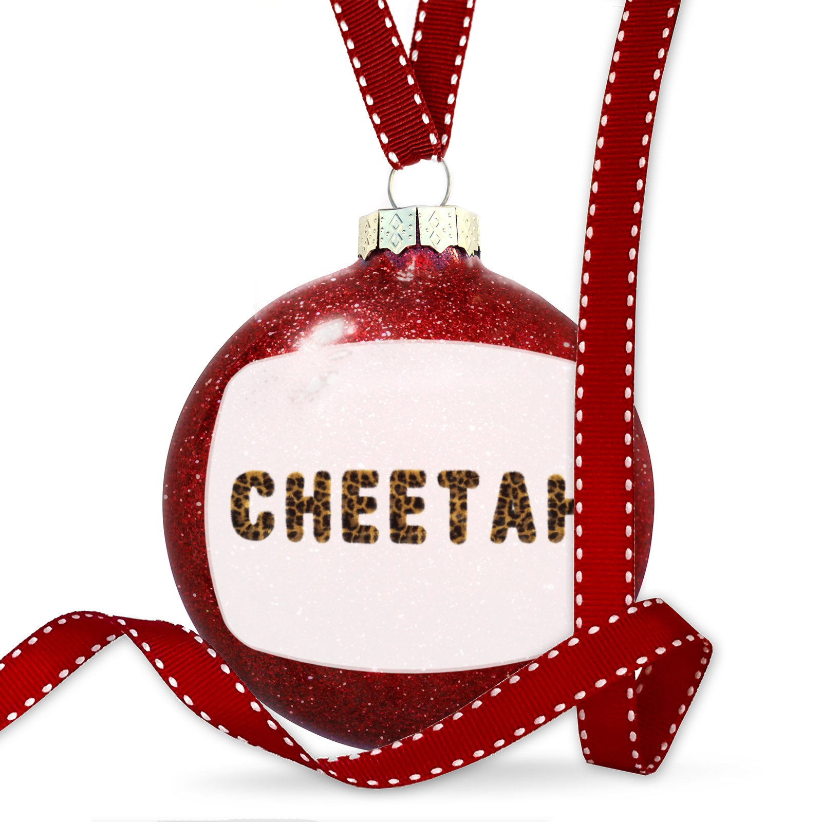 Christmas Decoration Cheetah Cheetah Cat Animal Print Ornament