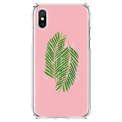 Amazon.com: Cute Summer Leaves Phone Case for iPhone 7 Plus ...